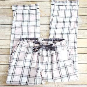 PJ Salvage Pink Plaid cotton pajama pants
